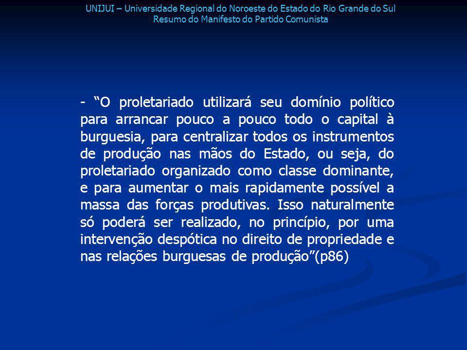 Resumo do Manifesto do Partido Comunista