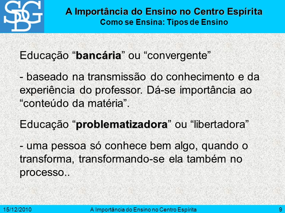 Educação bancária ou convergente