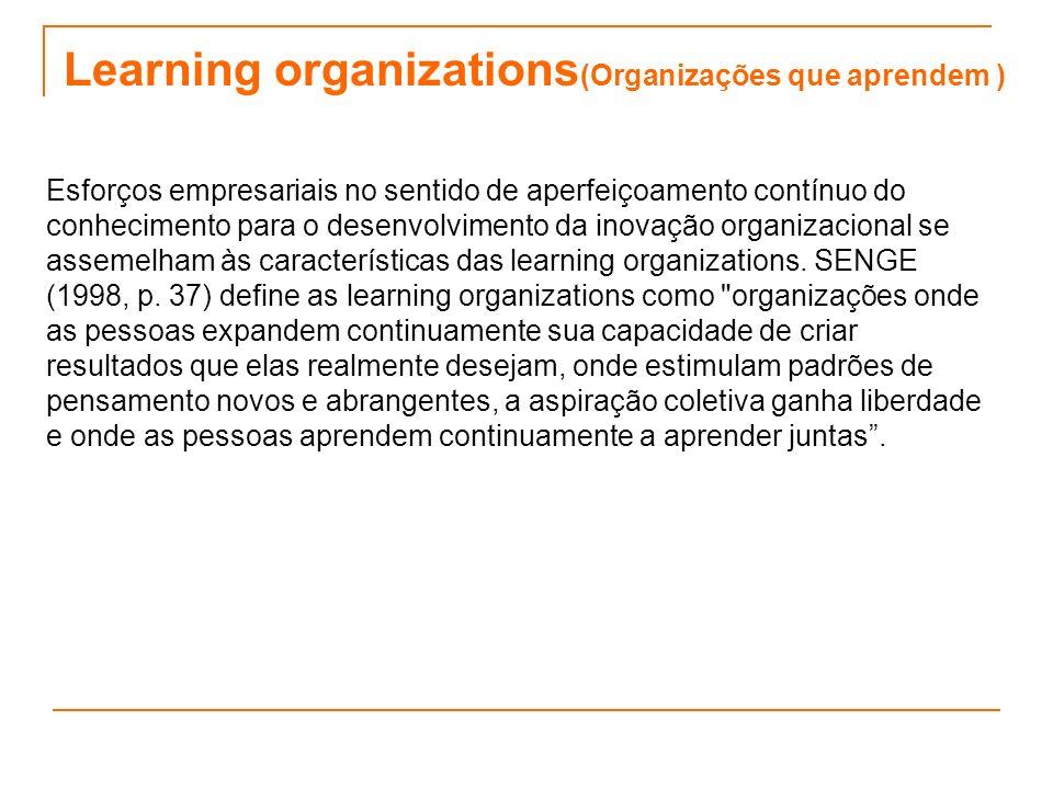 Learning organizations(Organizações que aprendem )
