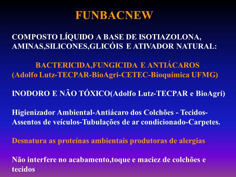 FUNBACNEW COMPOSTO LÍQUIDO A BASE DE ISOTIAZOLONA, AMINAS,SILICONES,GLICÓIS E ATIVADOR NATURAL: