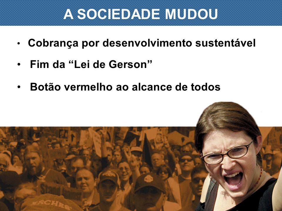 A SOCIEDADE MUDOU Fim da Lei de Gerson