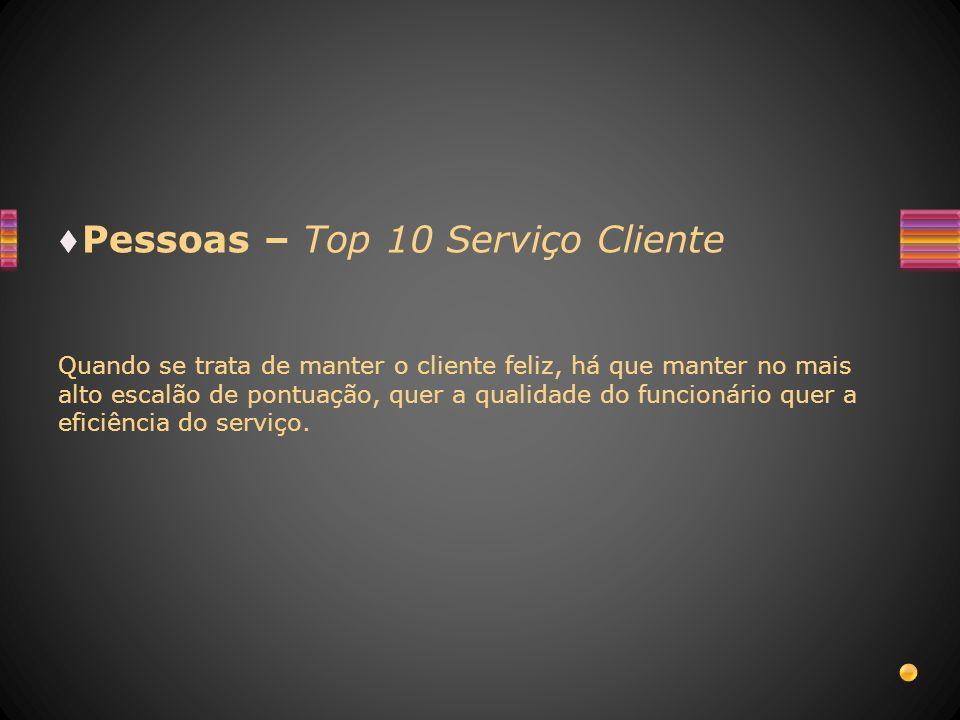 Pessoas – Top 10 Serviço Cliente