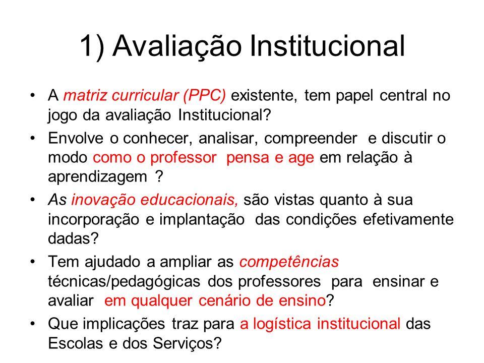 1) Avaliação Institucional