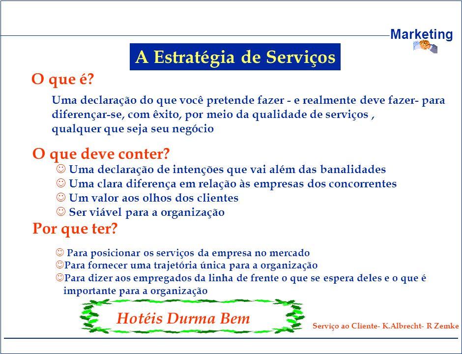 A Estratégia de Serviços Serviço ao Cliente- K.Albrecht- R Zemke