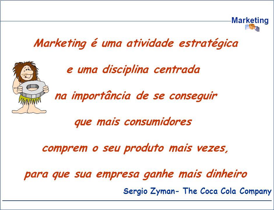 Marketing é uma atividade estratégica e uma disciplina centrada