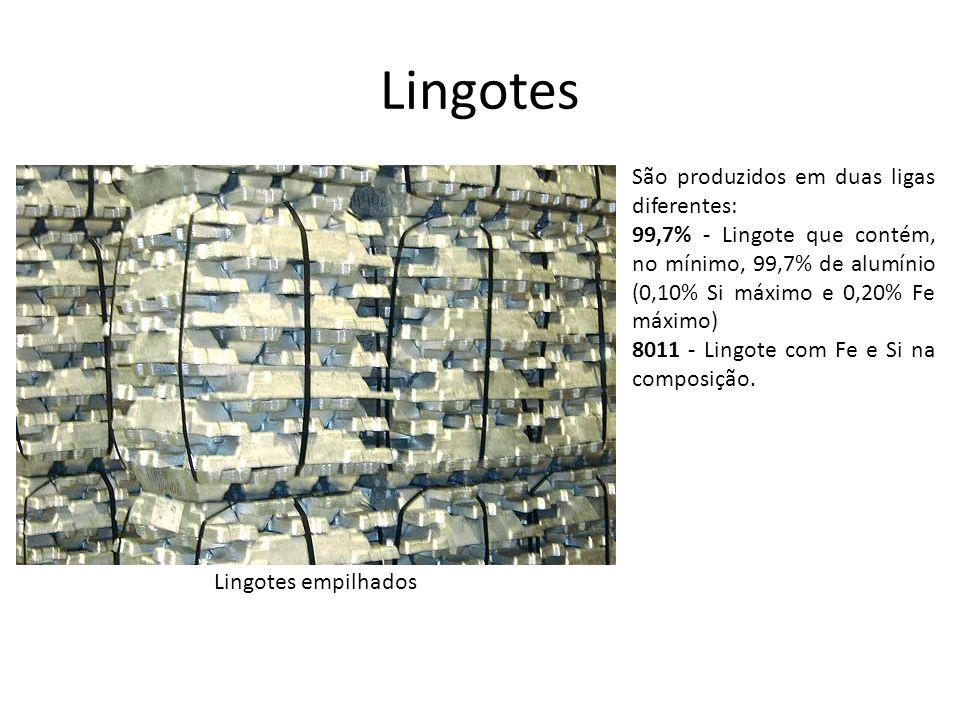 Lingotes São produzidos em duas ligas diferentes: