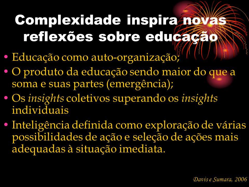 Complexidade inspira novas reflexões sobre educação