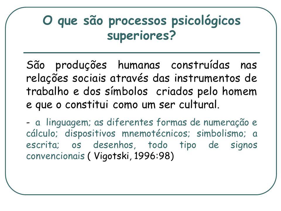 O que são processos psicológicos superiores