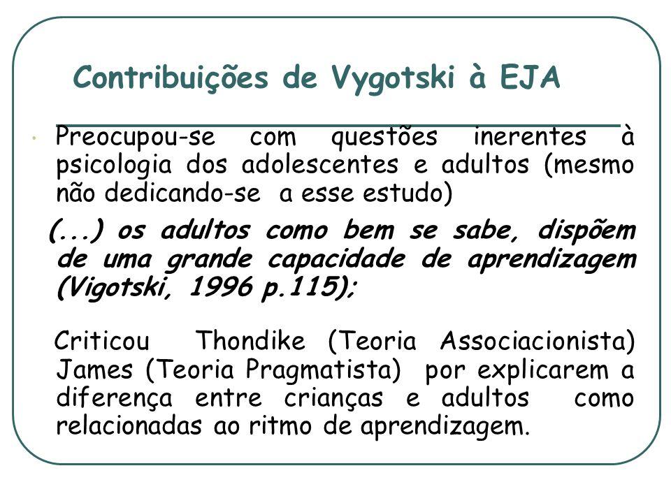 Contribuições de Vygotski à EJA