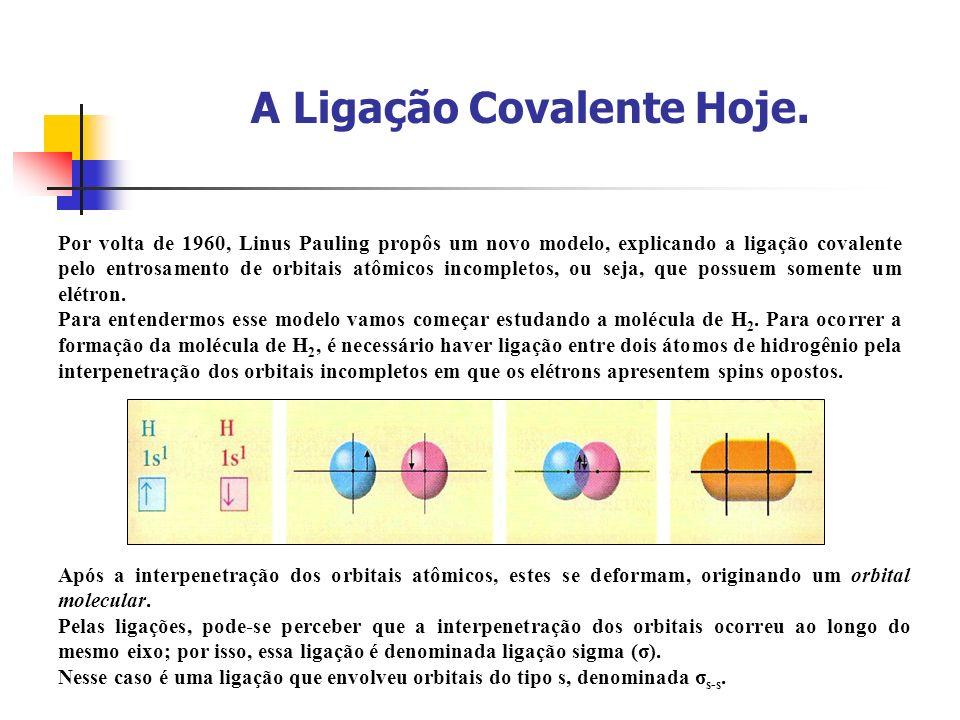 A Ligação Covalente Hoje.