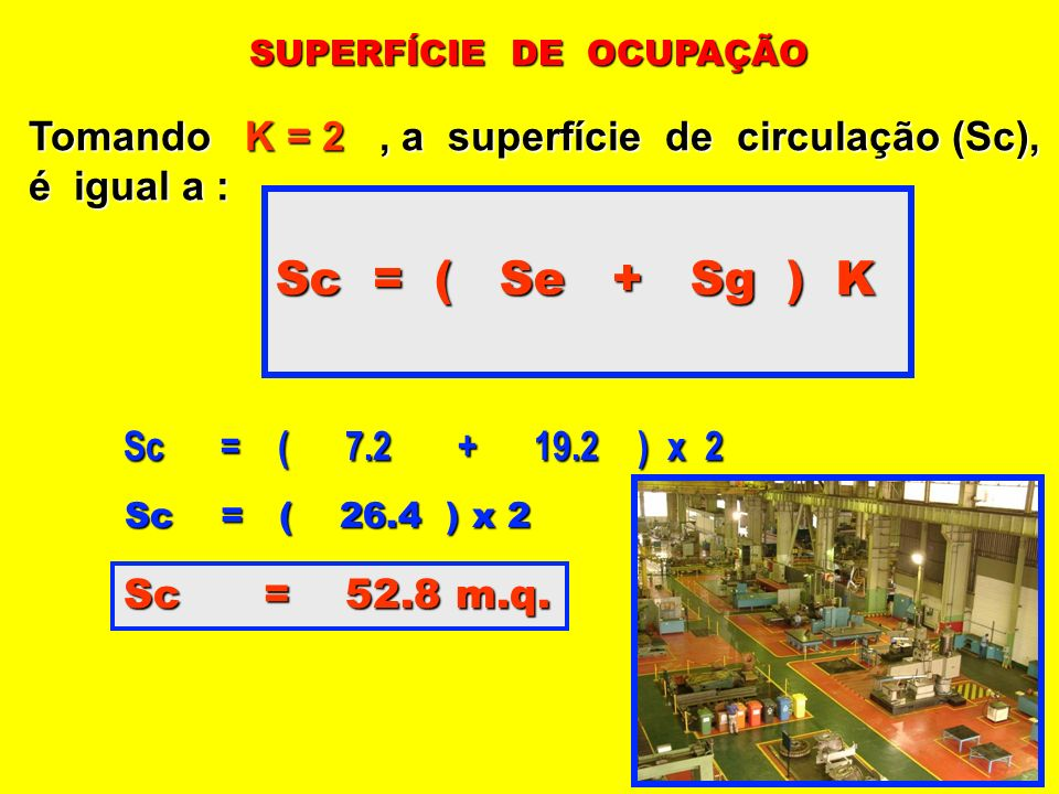 Sc = ( Se + Sg ) K Tomando K = 2 , a superfície de circulação (Sc),