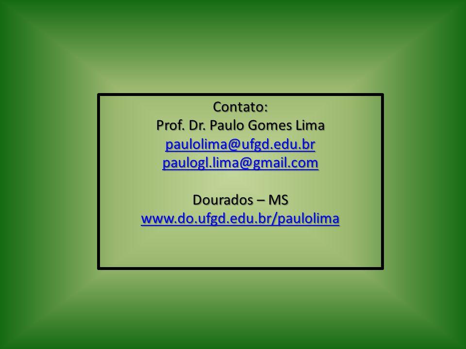 Prof. Dr. Paulo Gomes Lima