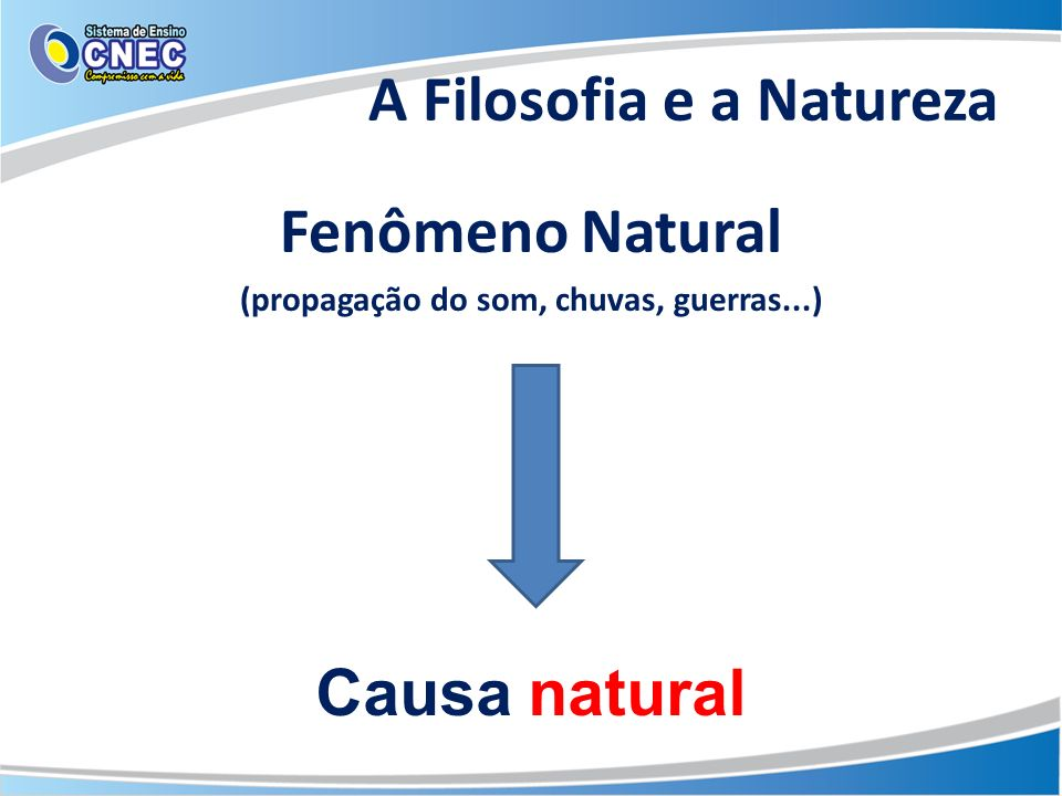 A Filosofia e a Natureza