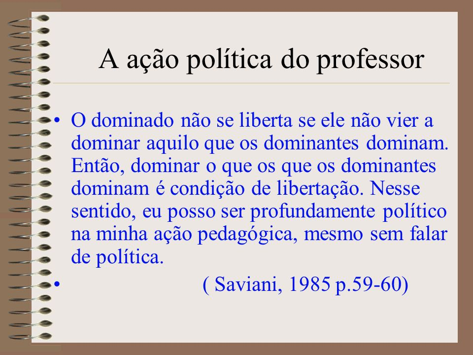 A ação política do professor