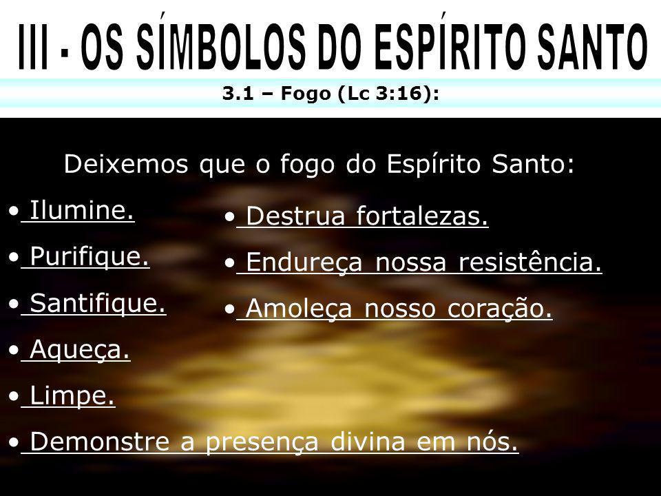 III - OS SÍMBOLOS DO ESPÍRITO SANTO