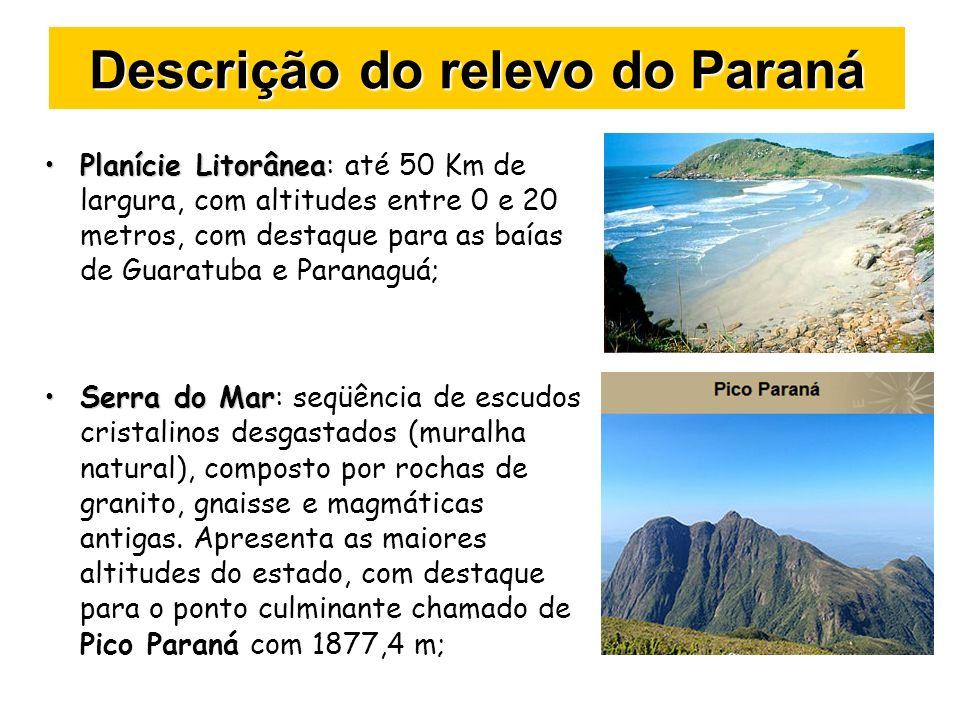 Descrição do relevo do Paraná