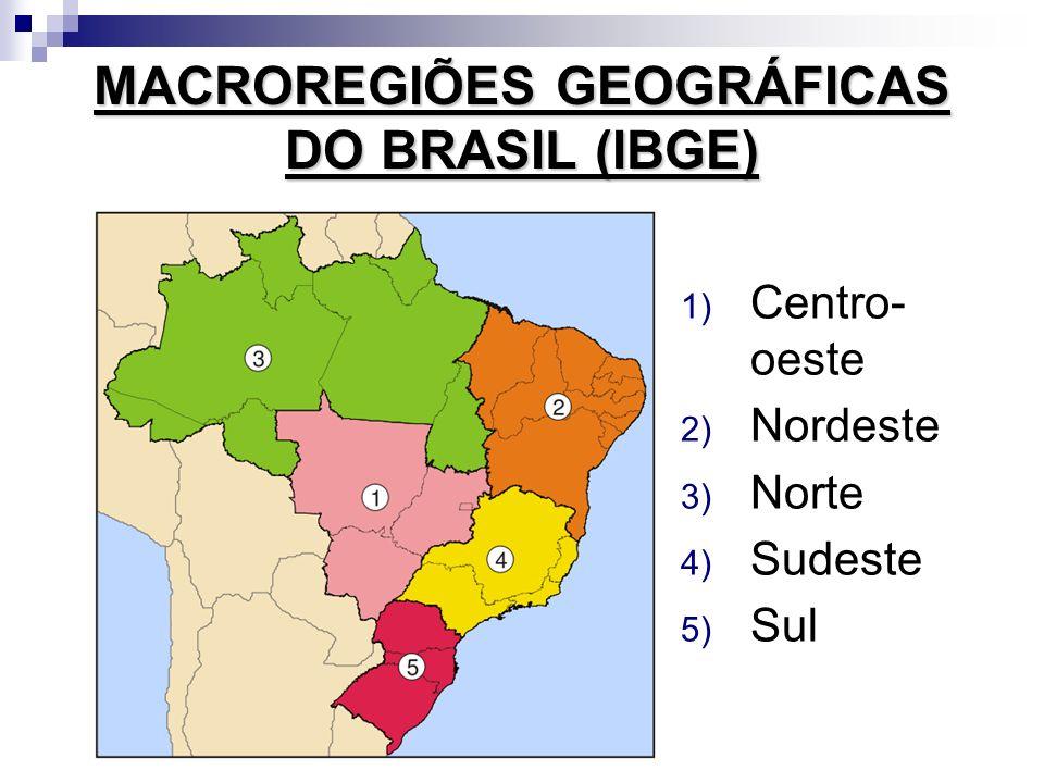 MACROREGIÕES GEOGRÁFICAS DO BRASIL (IBGE)