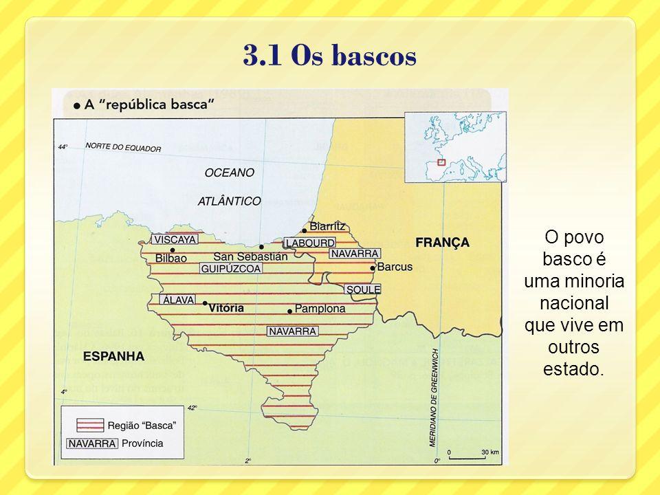 O povo basco é uma minoria nacional que vive em outros estado.
