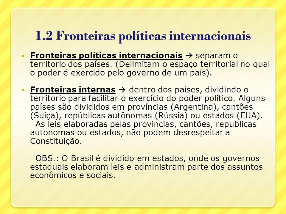 1.2 Fronteiras políticas internacionais