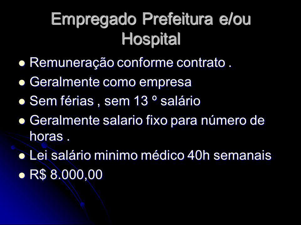 Empregado Prefeitura e/ou Hospital