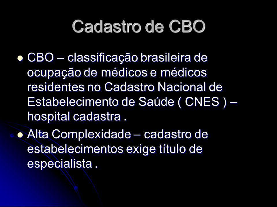 Cadastro de CBO