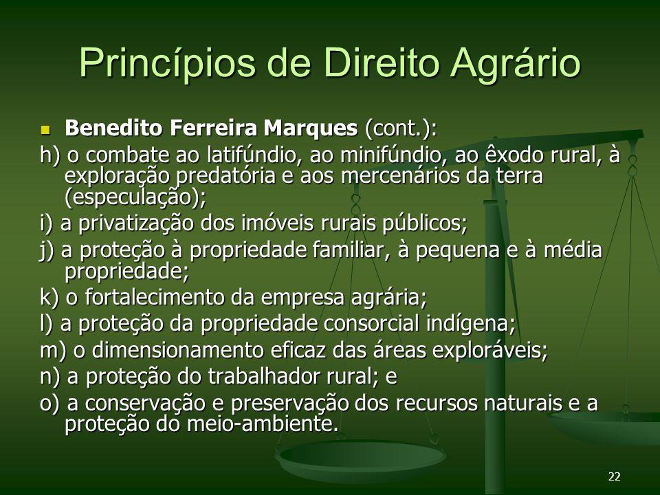 Princípios de Direito Agrário