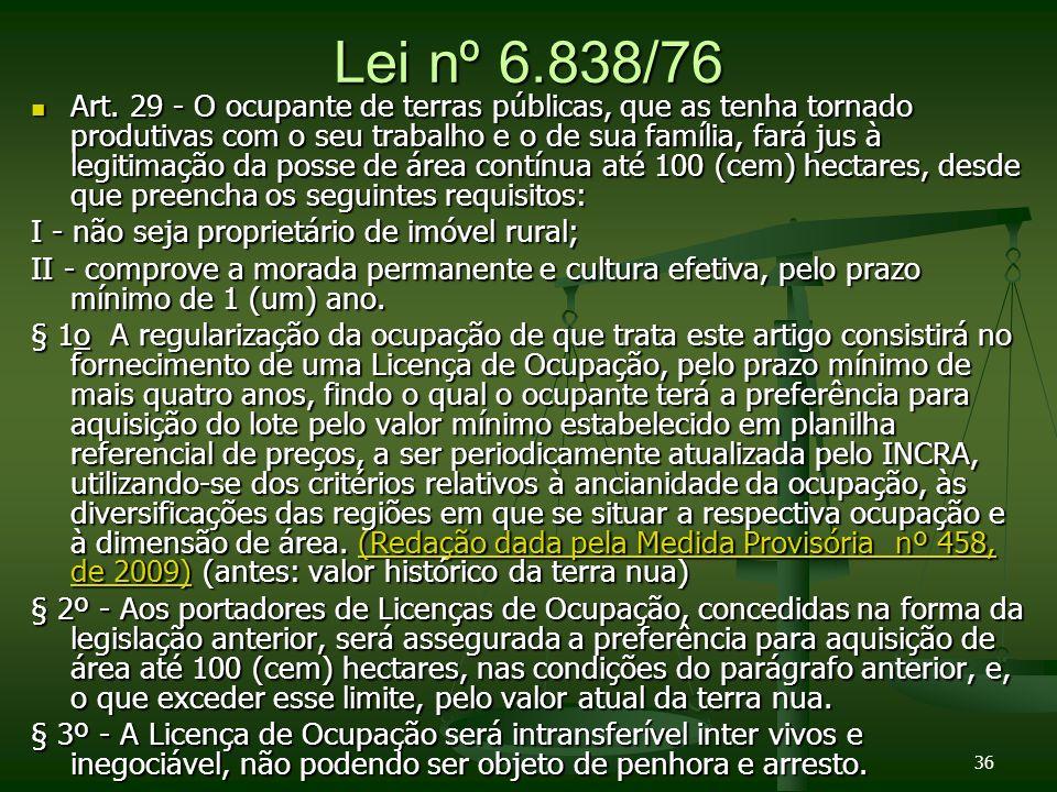Lei nº 6.838/76