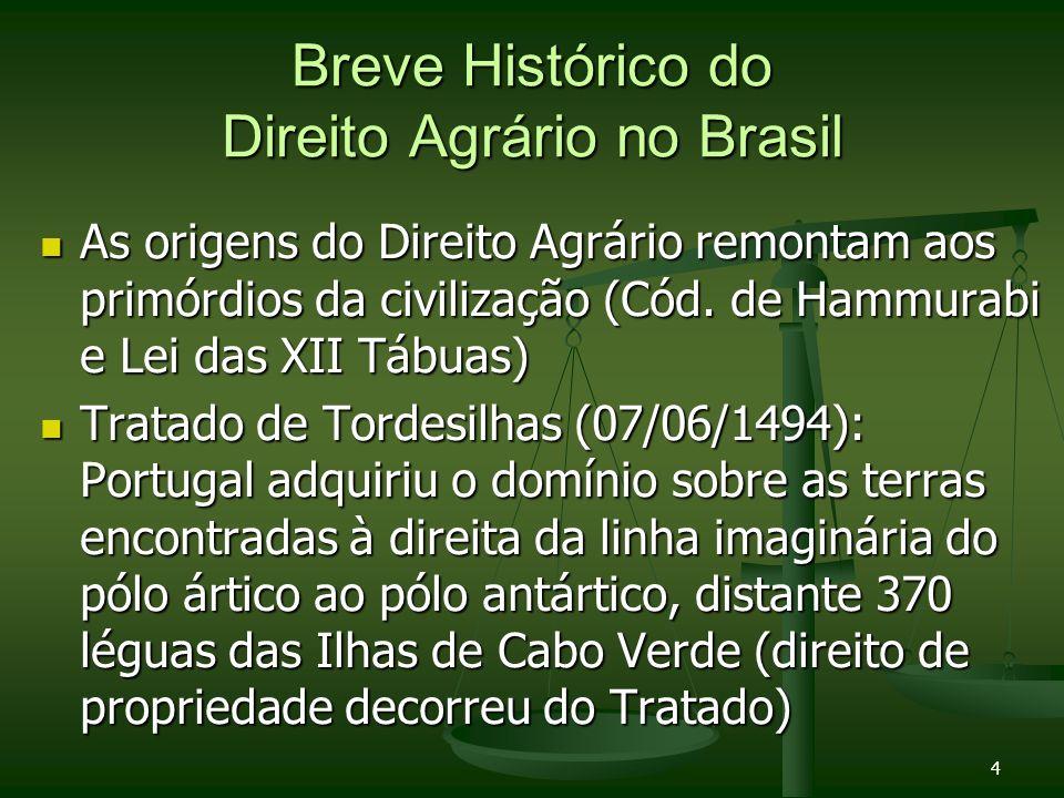 Breve Histórico do Direito Agrário no Brasil
