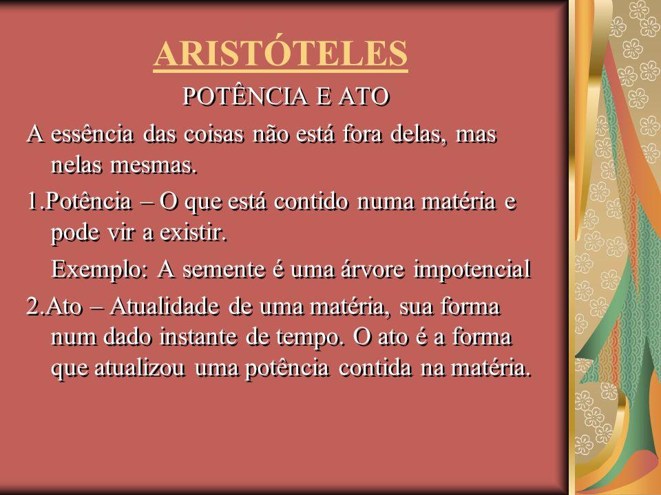 ARISTÓTELES POTÊNCIA E ATO