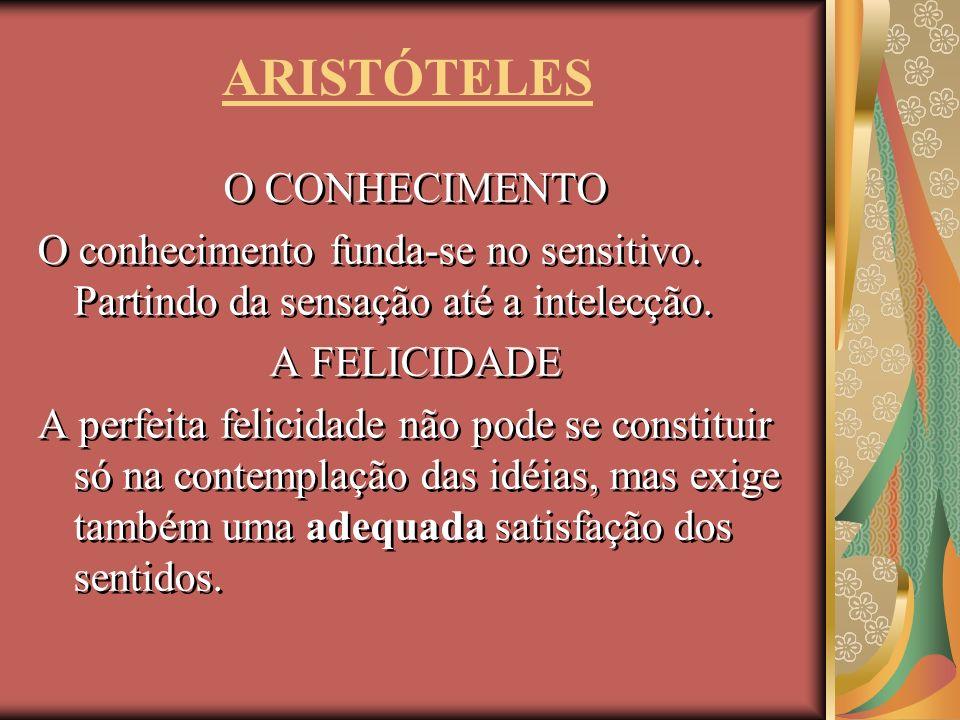 ARISTÓTELES O CONHECIMENTO