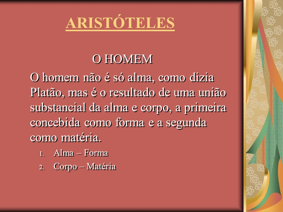 ARISTÓTELESO HOMEM.