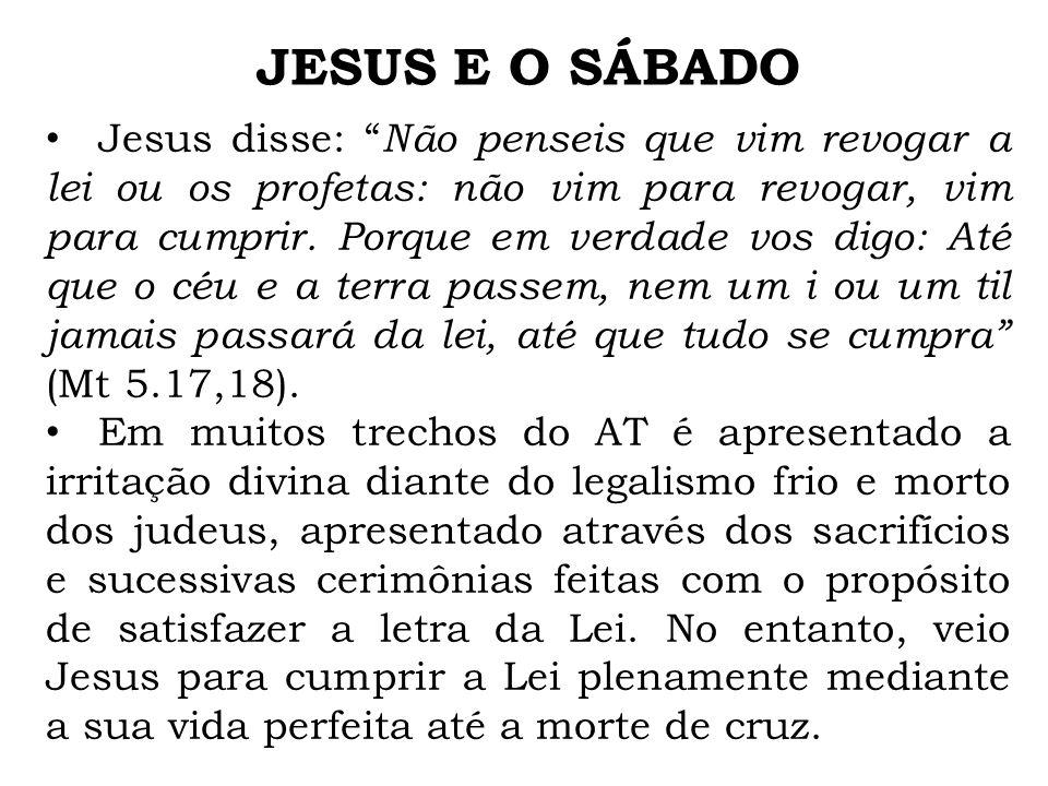 JESUS E O SÁBADO