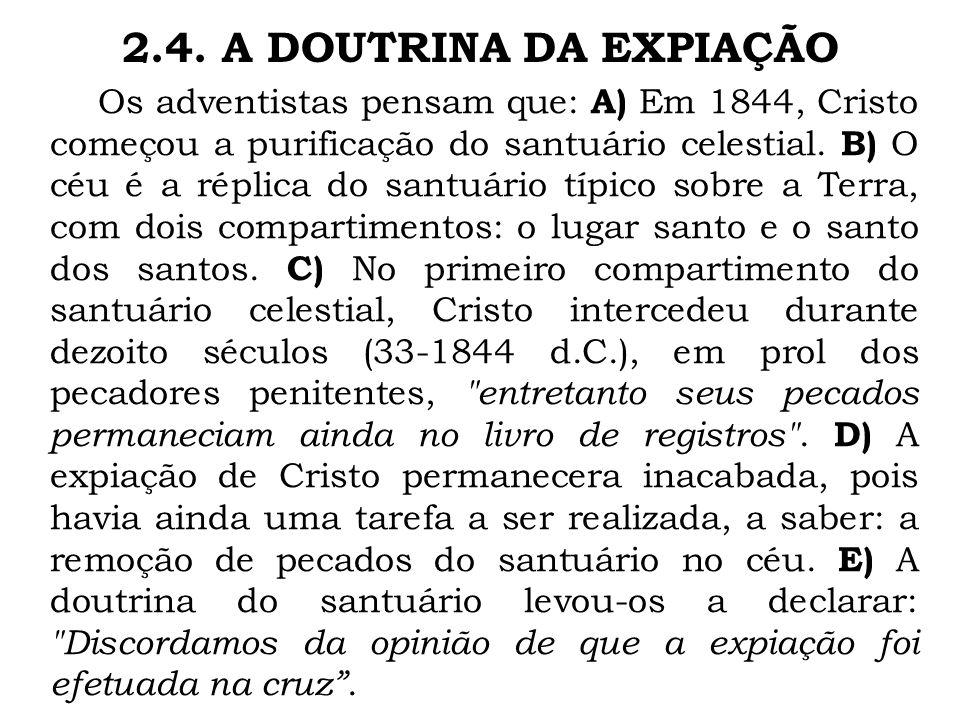 2.4. A DOUTRINA DA EXPIAÇÃO