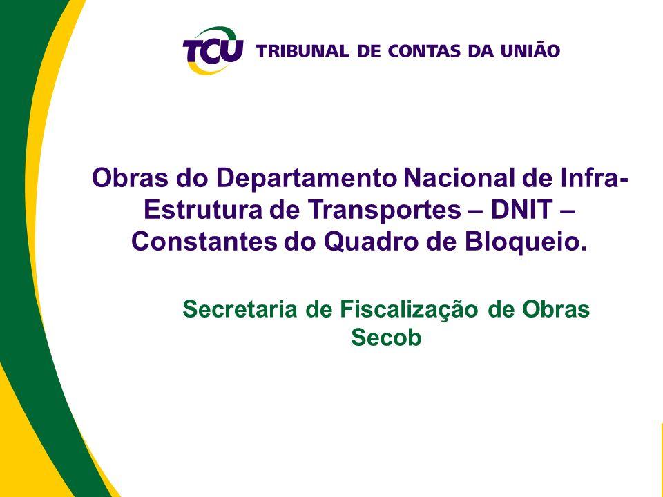 Secretaria de Fiscalização de Obras Secob
