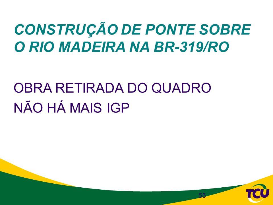 CONSTRUÇÃO DE PONTE SOBRE O RIO MADEIRA NA BR-319/RO