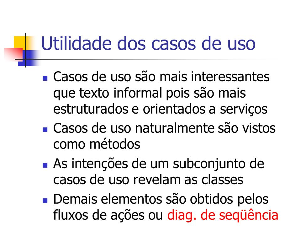 Utilidade dos casos de uso
