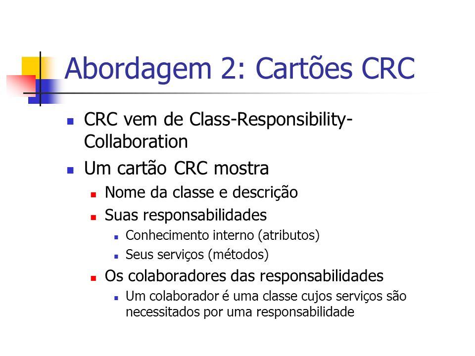 Abordagem 2: Cartões CRC