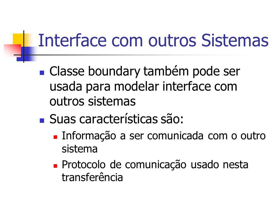 Interface com outros Sistemas