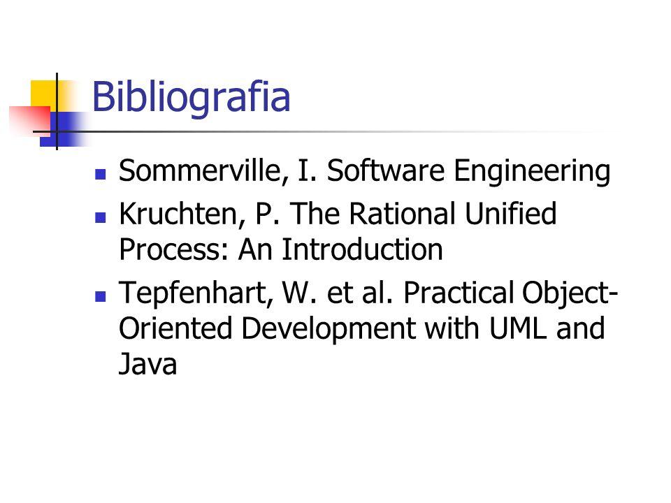 Bibliografia Sommerville, I. Software Engineering