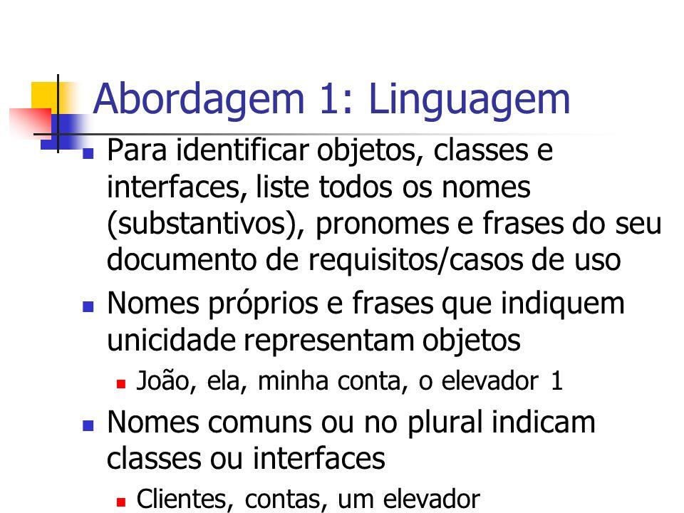 Abordagem 1: Linguagem