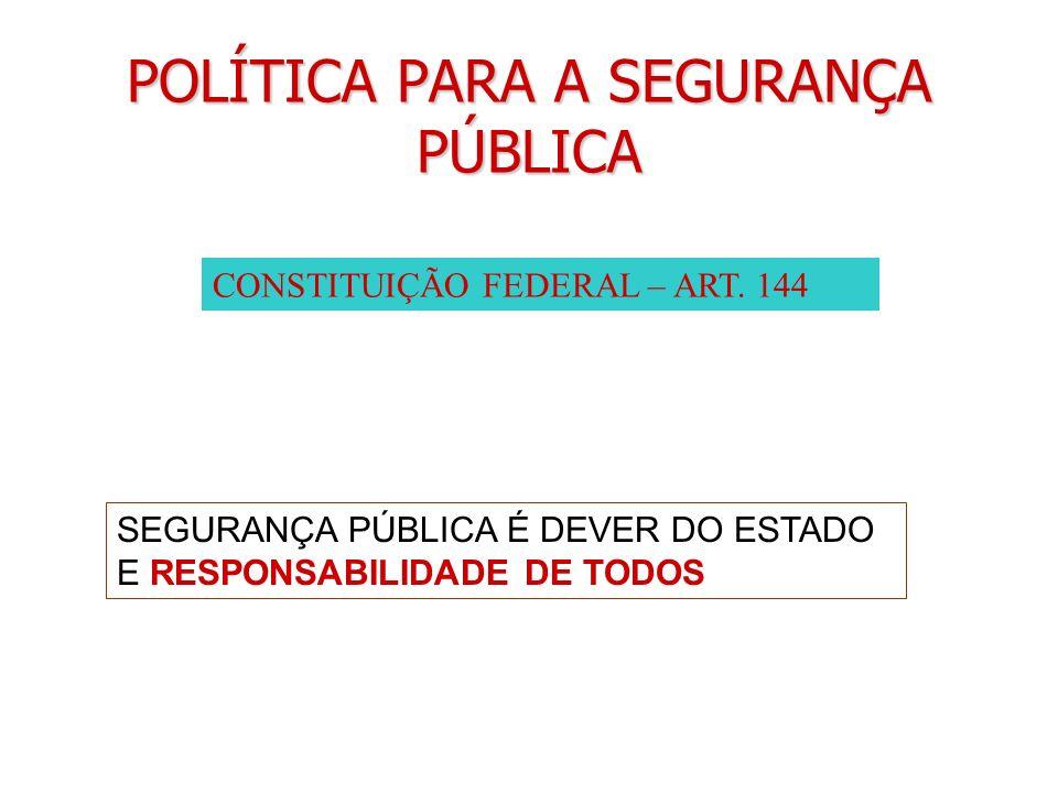 POLÍTICA PARA A SEGURANÇA PÚBLICA
