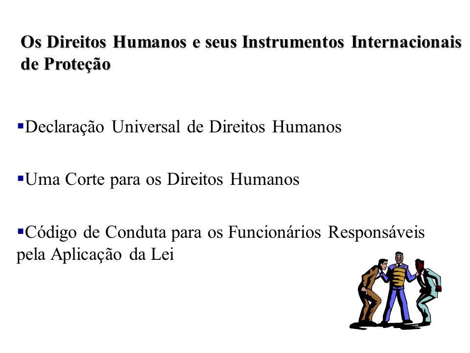 Os Direitos Humanos e seus Instrumentos Internacionais de Proteção