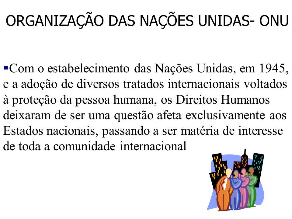 ORGANIZAÇÃO DAS NAÇÕES UNIDAS- ONU
