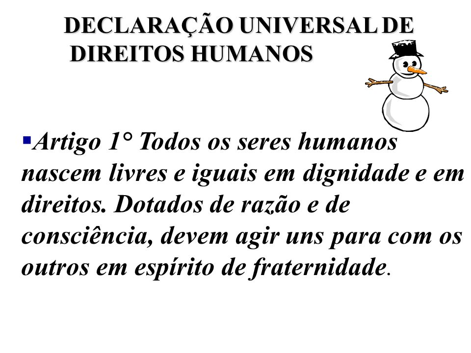 DECLARAÇÃO UNIVERSAL DE