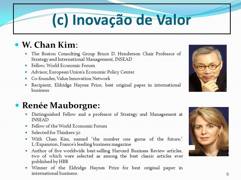 (c) Inovação de Valor W. Chan Kim: Renée Mauborgne: