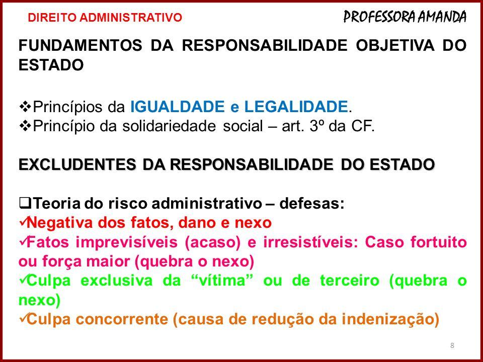 FUNDAMENTOS DA RESPONSABILIDADE OBJETIVA DO ESTADO