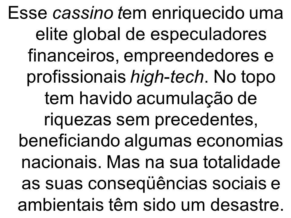 Esse cassino tem enriquecido uma elite global de especuladores financeiros, empreendedores e profissionais high-tech.