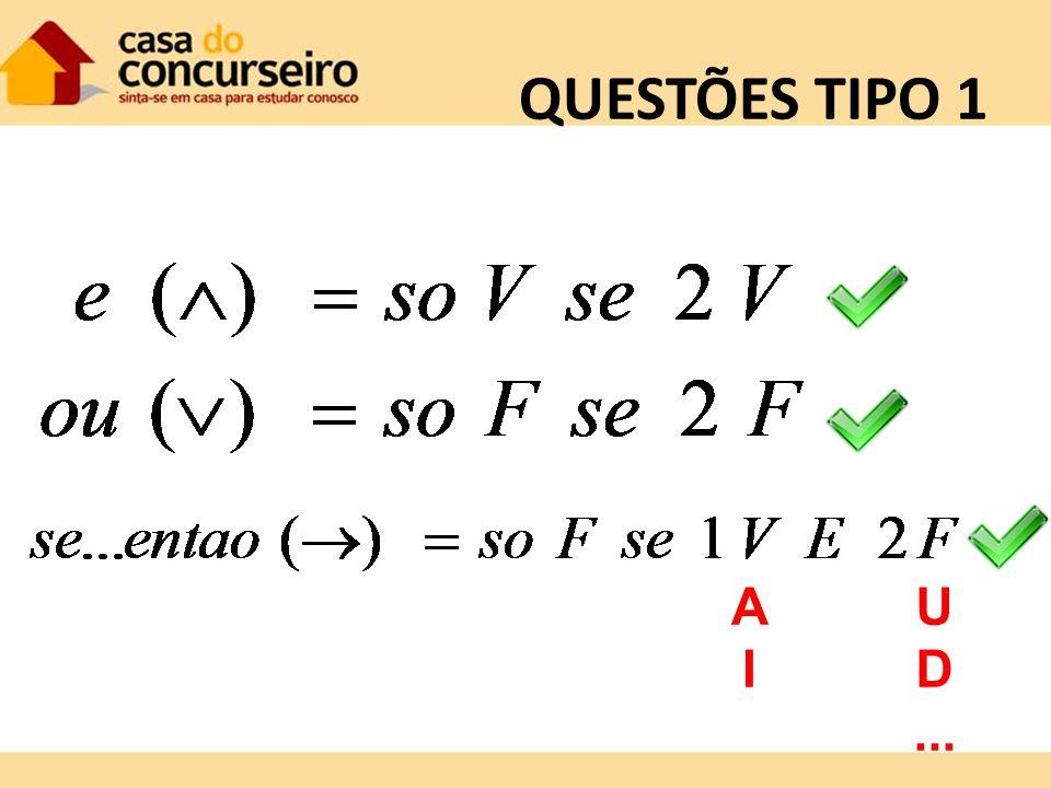 QUESTÕES TIPO 1 A I U D ...