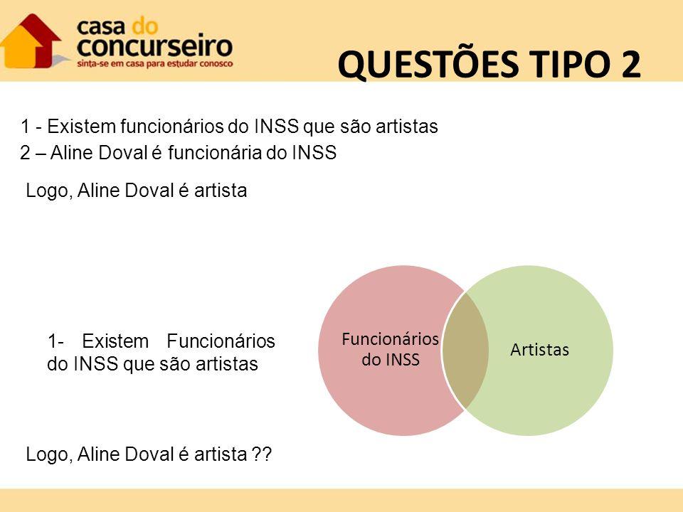 QUESTÕES TIPO 2 1 - Existem funcionários do INSS que são artistas