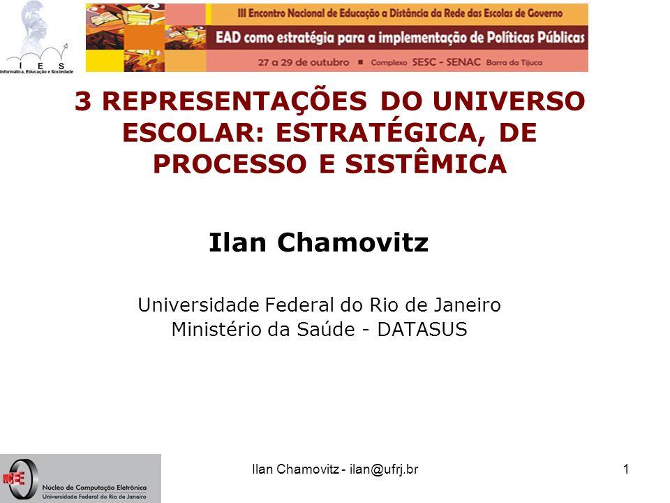 3 REPRESENTAÇÕES DO UNIVERSO ESCOLAR: ESTRATÉGICA, DE PROCESSO E SISTÊMICA